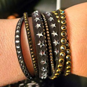 Swarovski star wrap bracelet